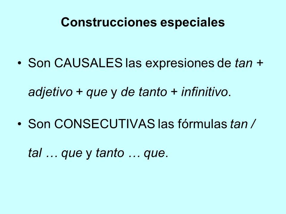 Construcciones especiales