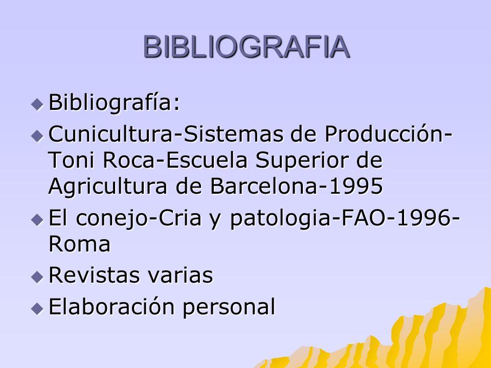 BIBLIOGRAFIA Bibliografía: