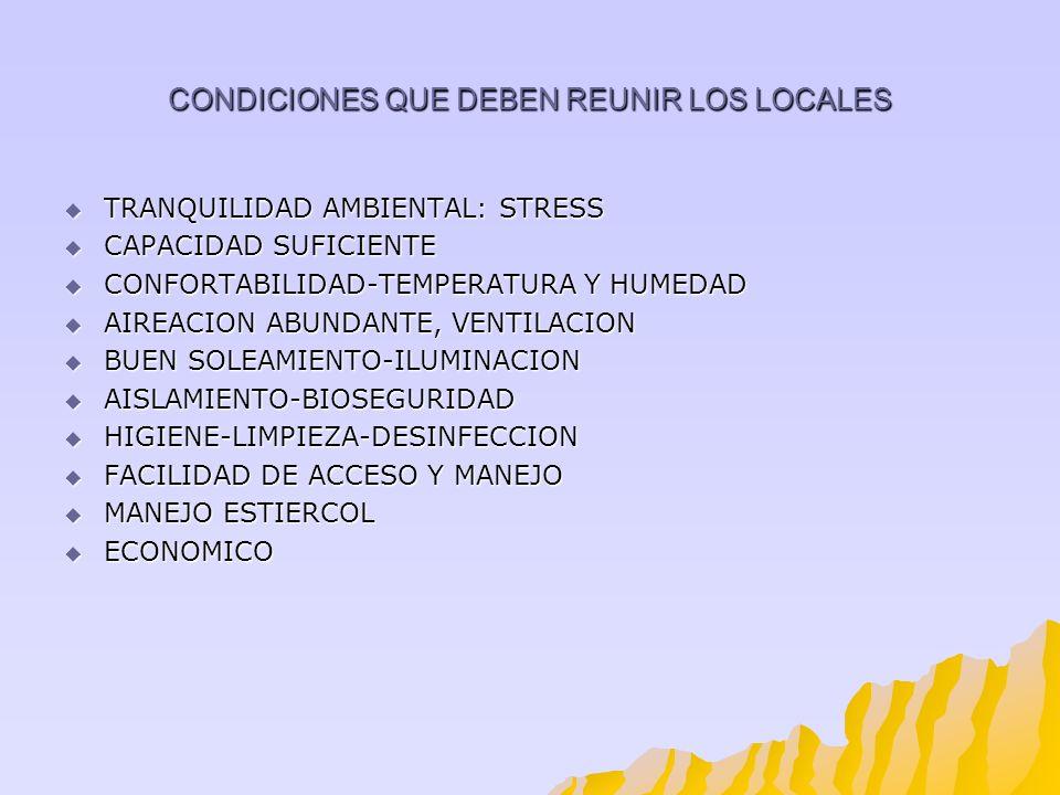 CONDICIONES QUE DEBEN REUNIR LOS LOCALES