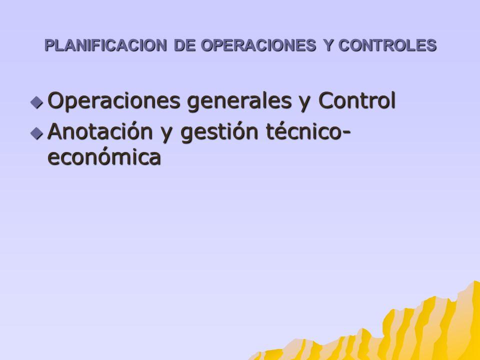 PLANIFICACION DE OPERACIONES Y CONTROLES