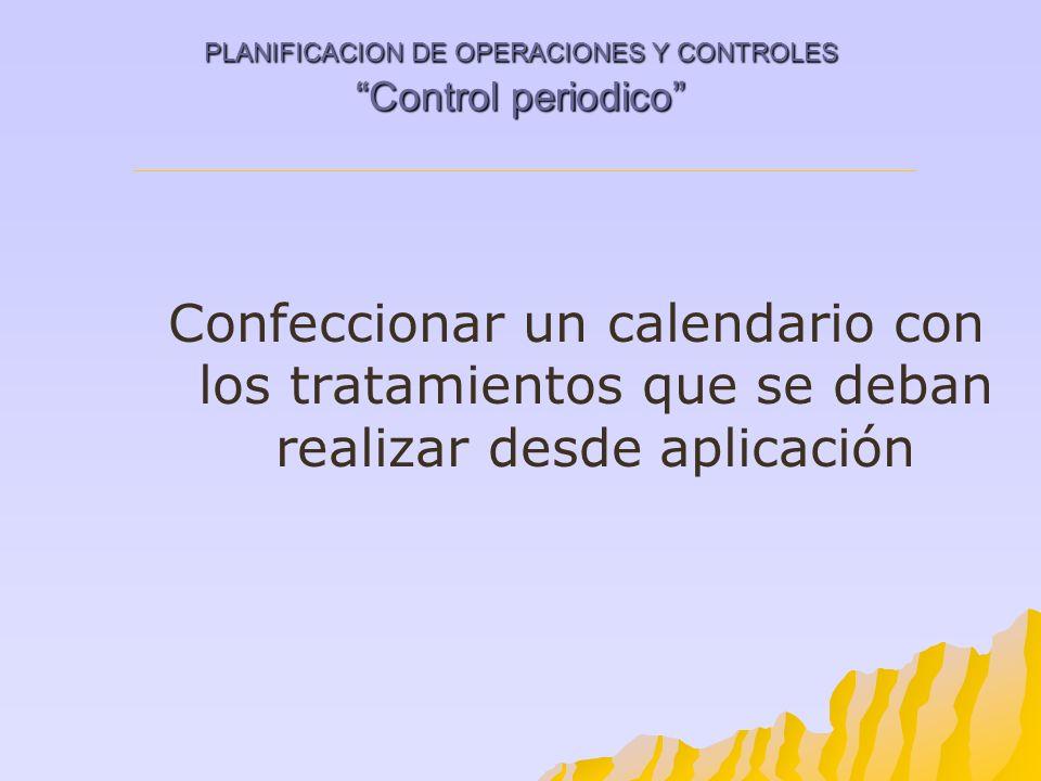 PLANIFICACION DE OPERACIONES Y CONTROLES Control periodico