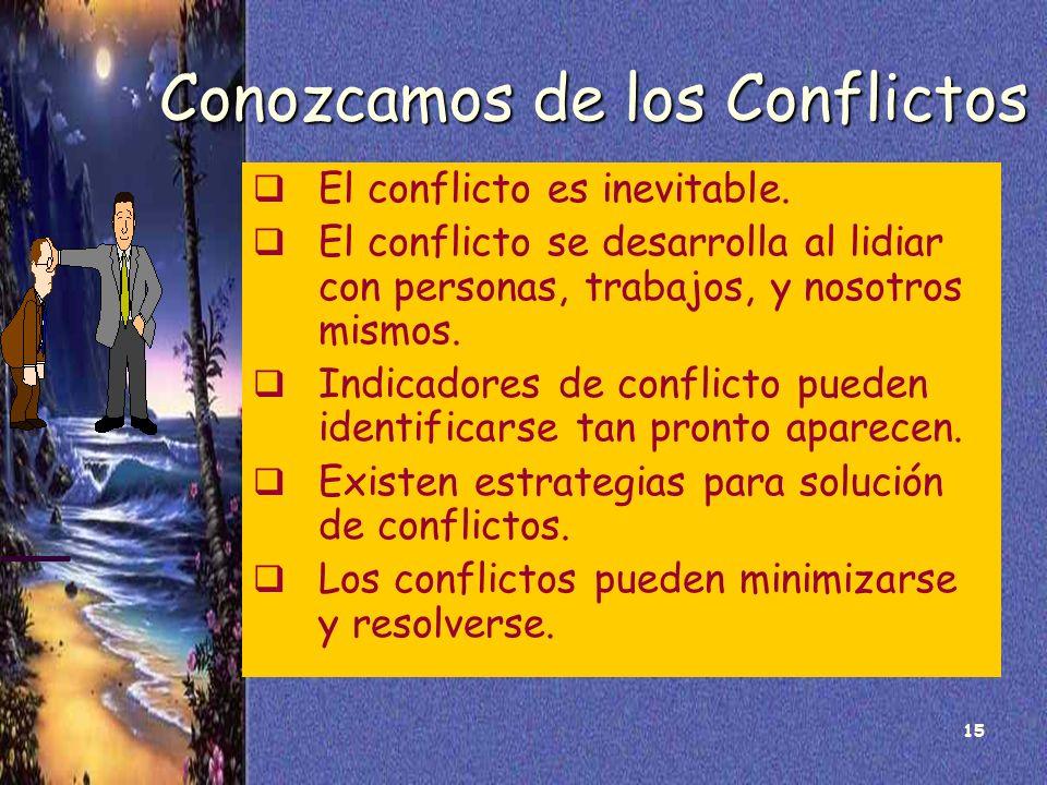 Conozcamos de los Conflictos