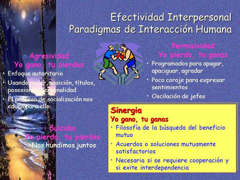 Efectividad Interpersonal Paradigmas de Interacción Humana