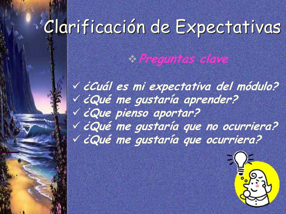 Clarificación de Expectativas