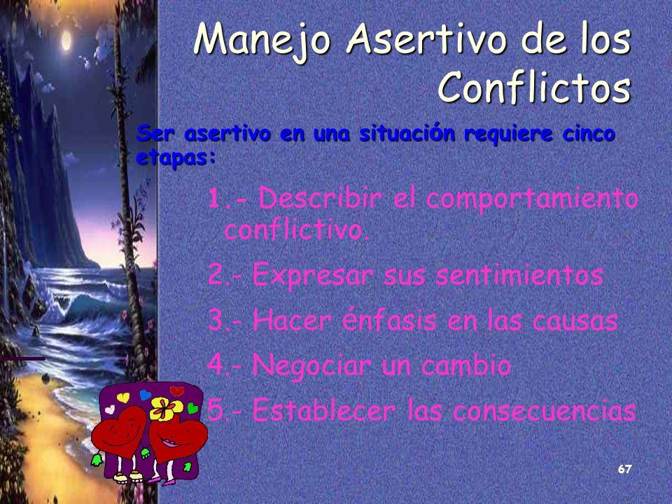 Manejo Asertivo de los Conflictos
