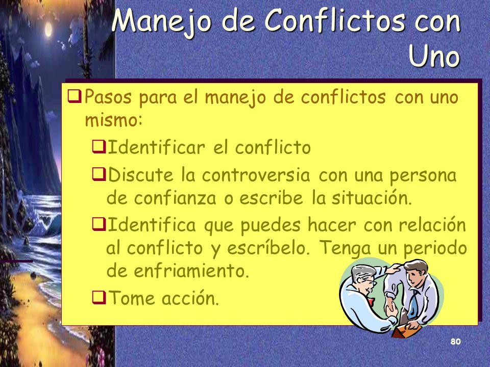 Manejo de Conflictos con Uno