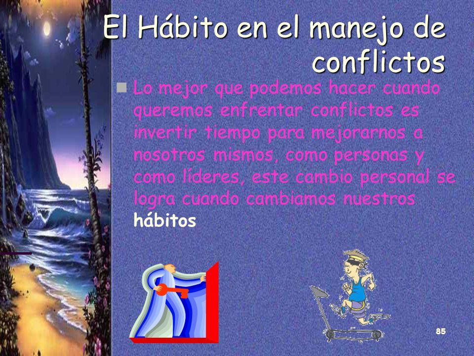 El Hábito en el manejo de conflictos