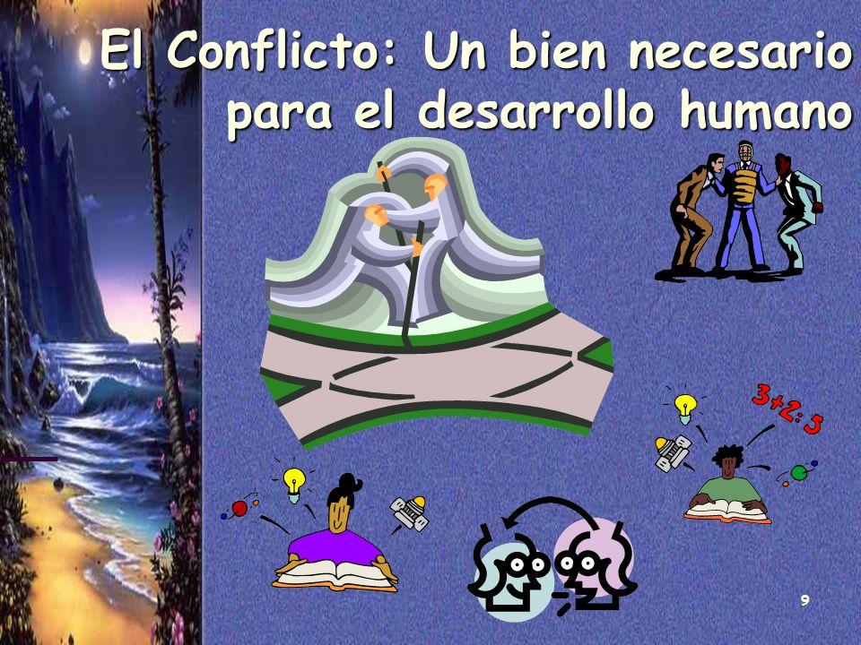 El Conflicto: Un bien necesario para el desarrollo humano