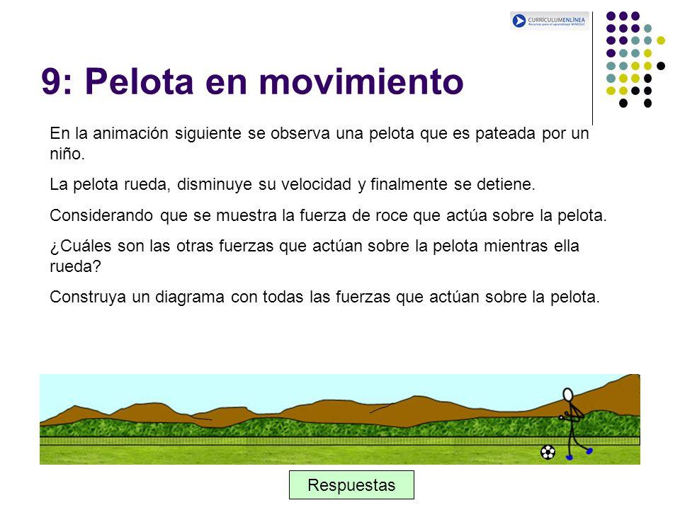 9: Pelota en movimiento En la animación siguiente se observa una pelota que es pateada por un niño.