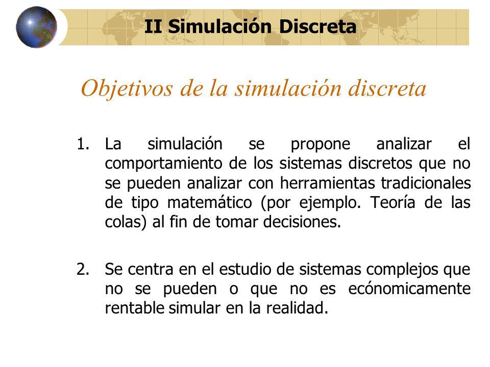 Objetivos de la simulación discreta