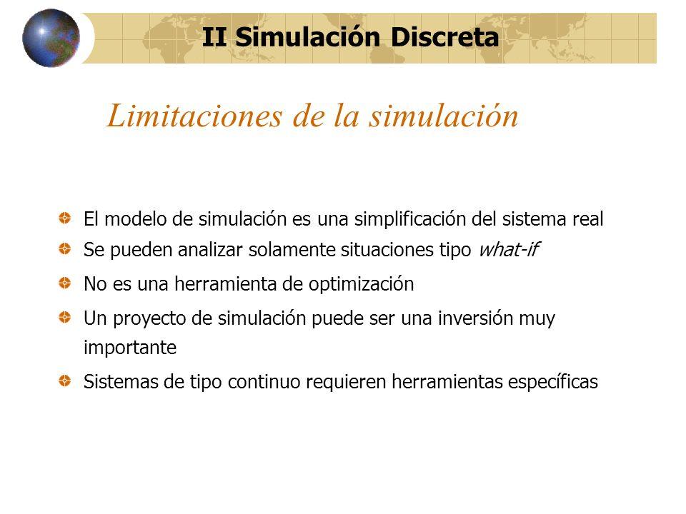 Limitaciones de la simulación