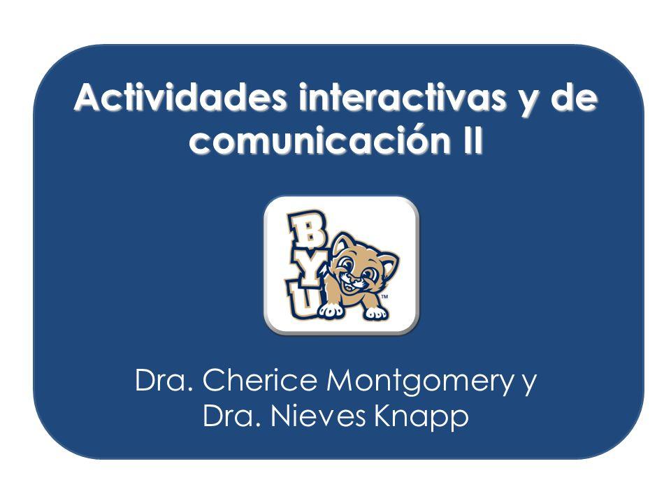 Actividades interactivas y de comunicación II