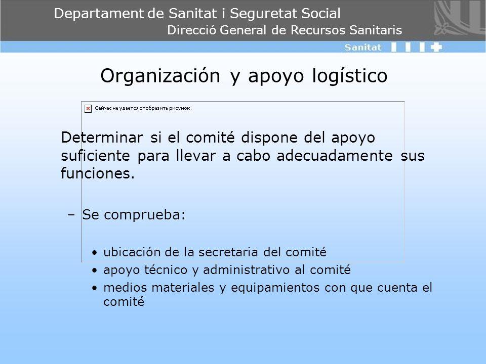 Organización y apoyo logístico