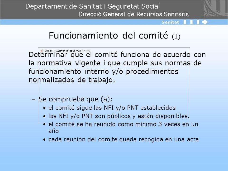 Funcionamiento del comité (1)