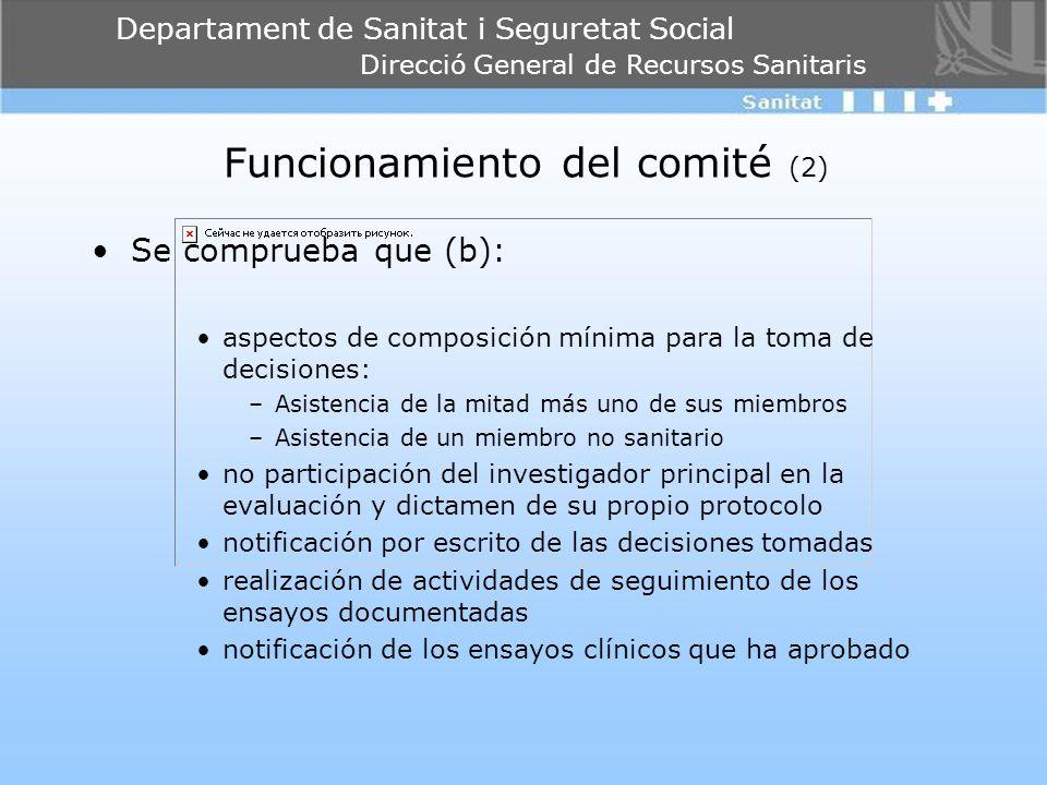 Funcionamiento del comité (2)