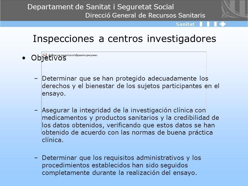 Inspecciones a centros investigadores