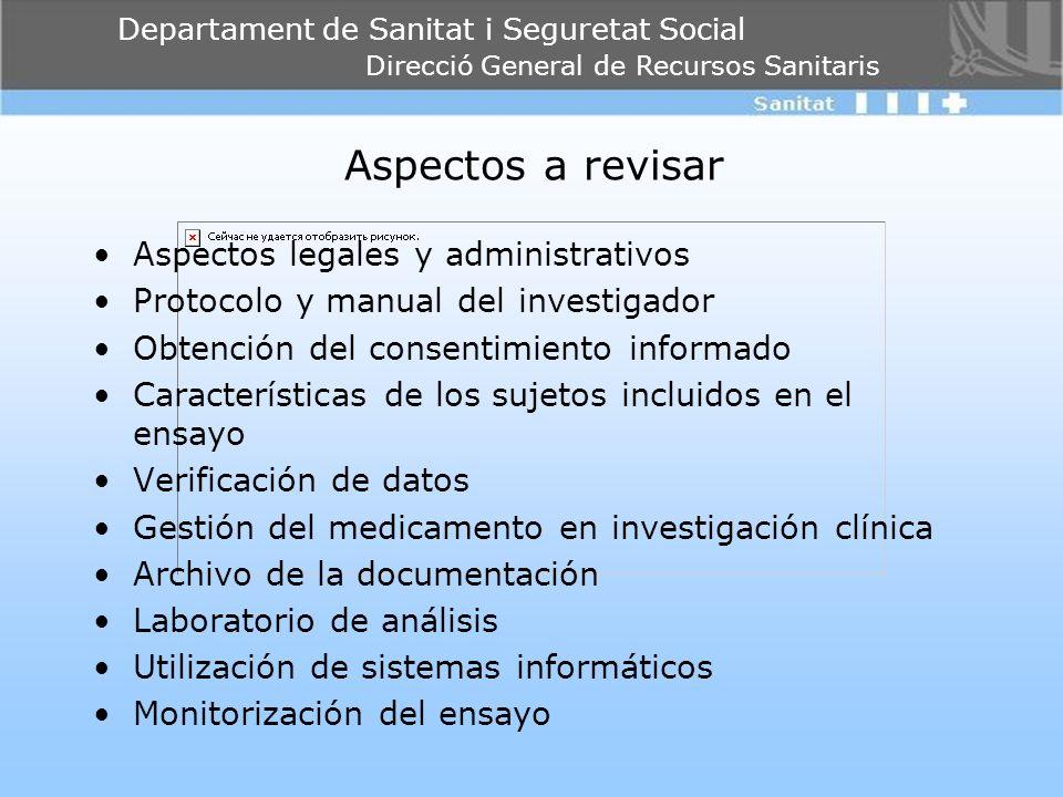 Aspectos a revisar Aspectos legales y administrativos