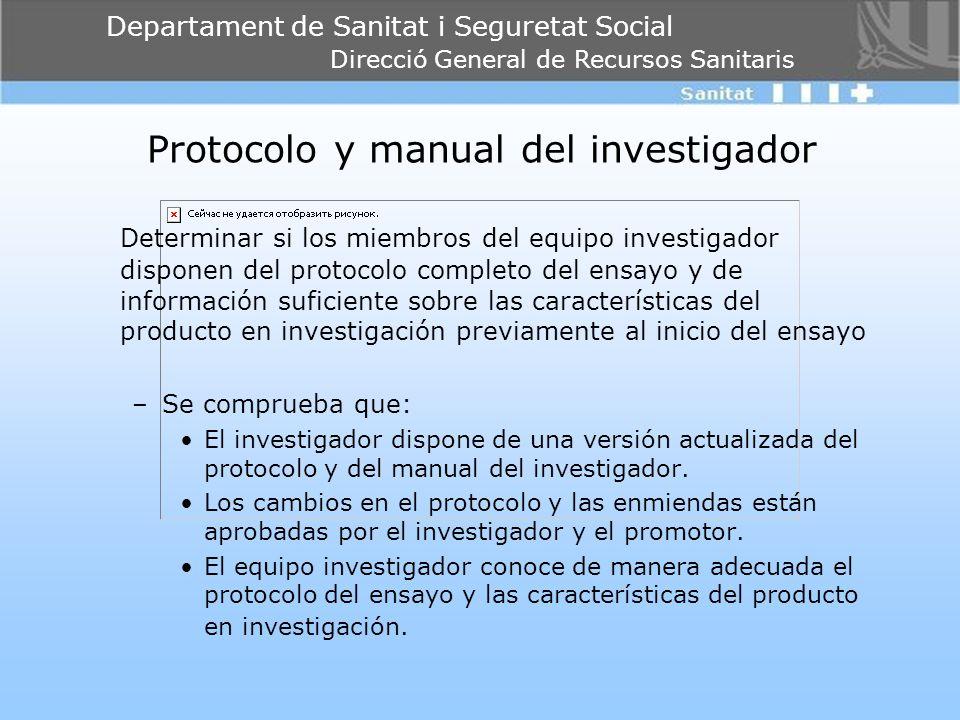 Protocolo y manual del investigador