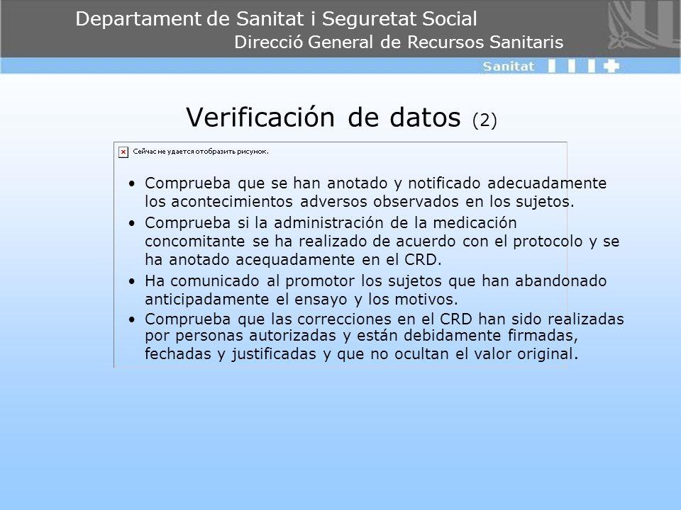 Verificación de datos (2)