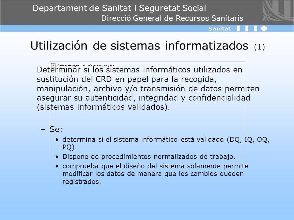 Utilización de sistemas informatizados (1)