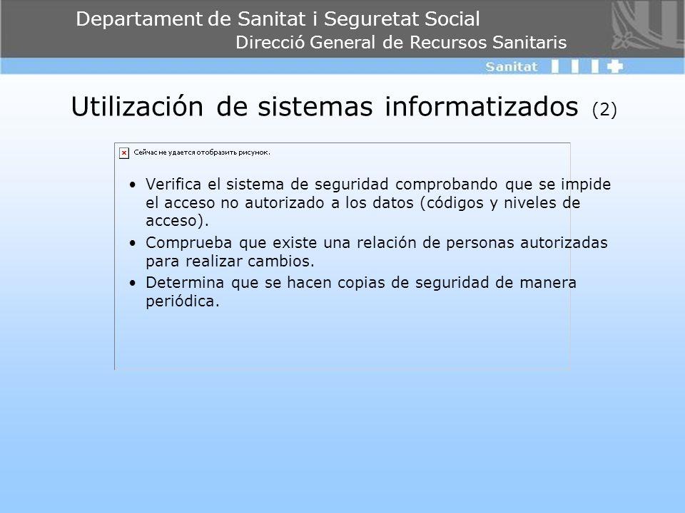 Utilización de sistemas informatizados (2)