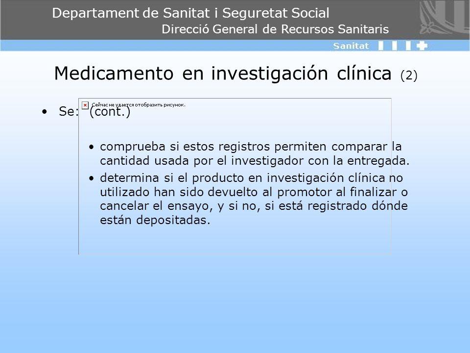 Medicamento en investigación clínica (2)