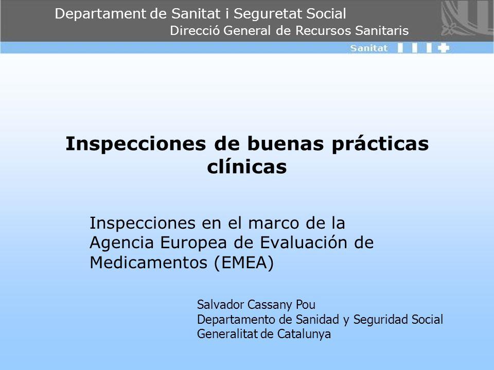 Inspecciones de buenas prácticas clínicas