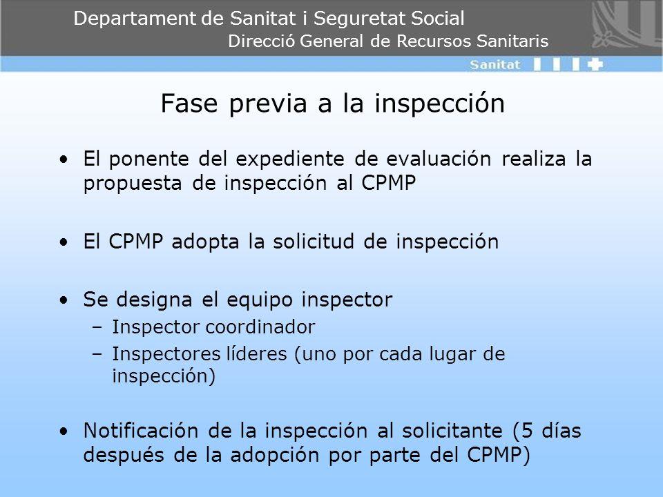 Fase previa a la inspección