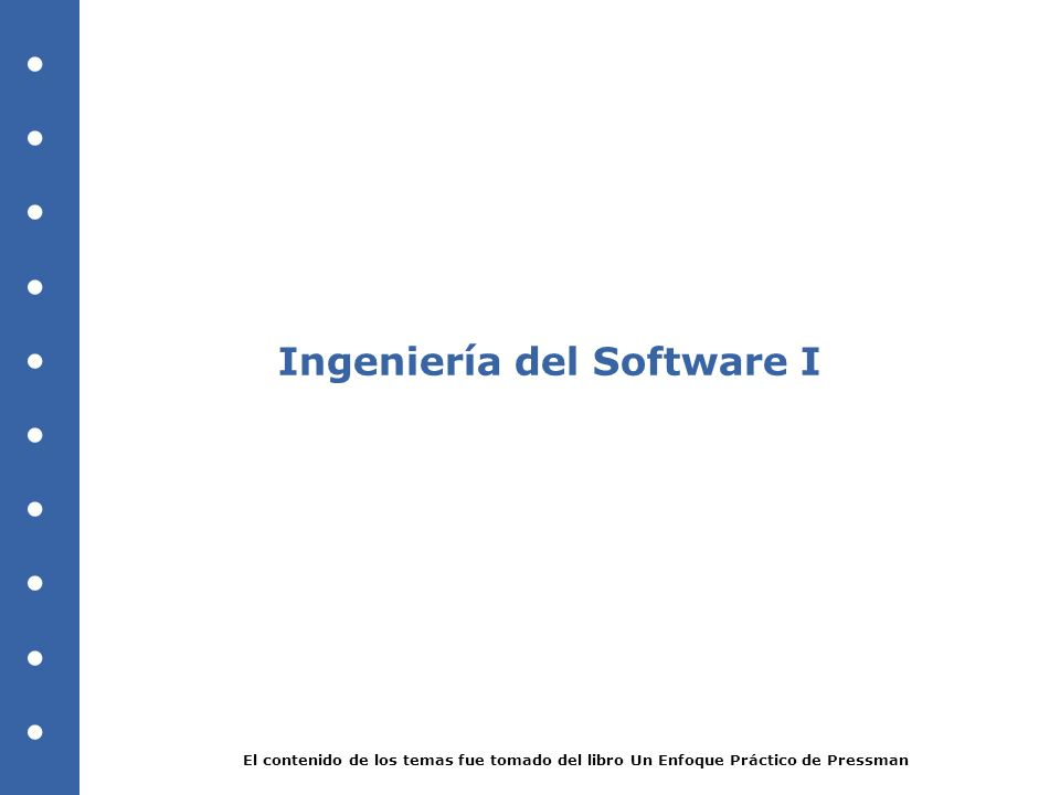 Ingeniería del Software I