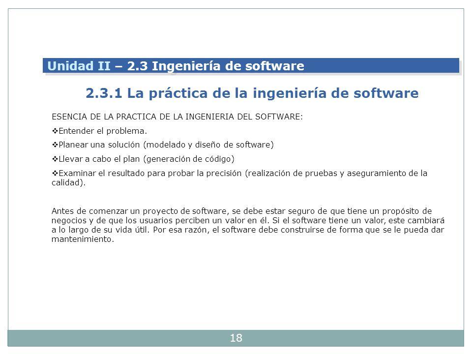 2.3.1 La práctica de la ingeniería de software