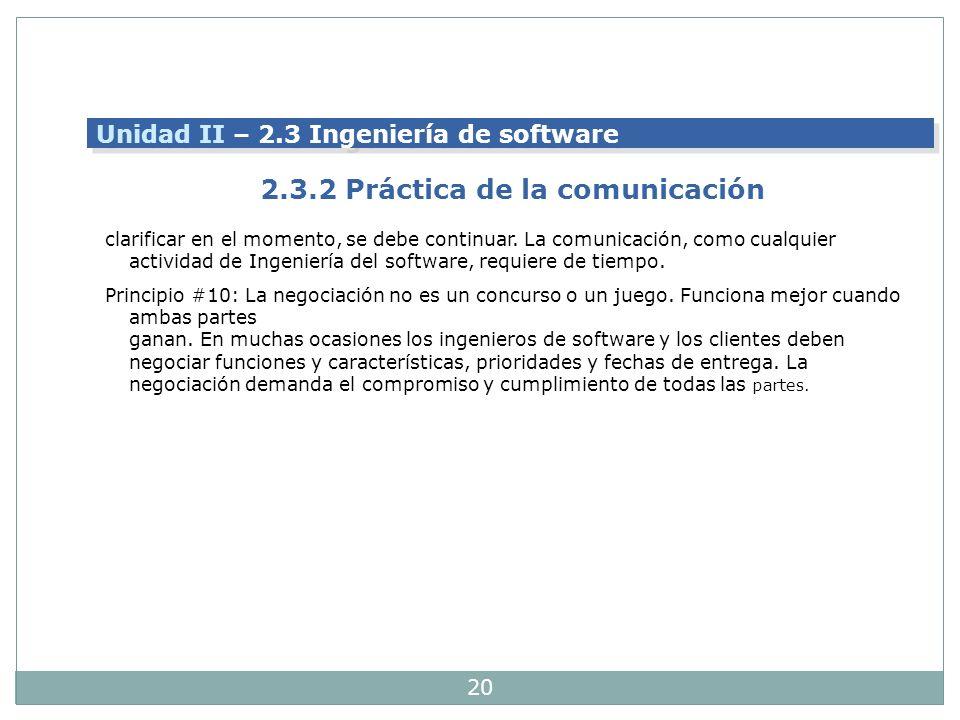 2.3.2 Práctica de la comunicación
