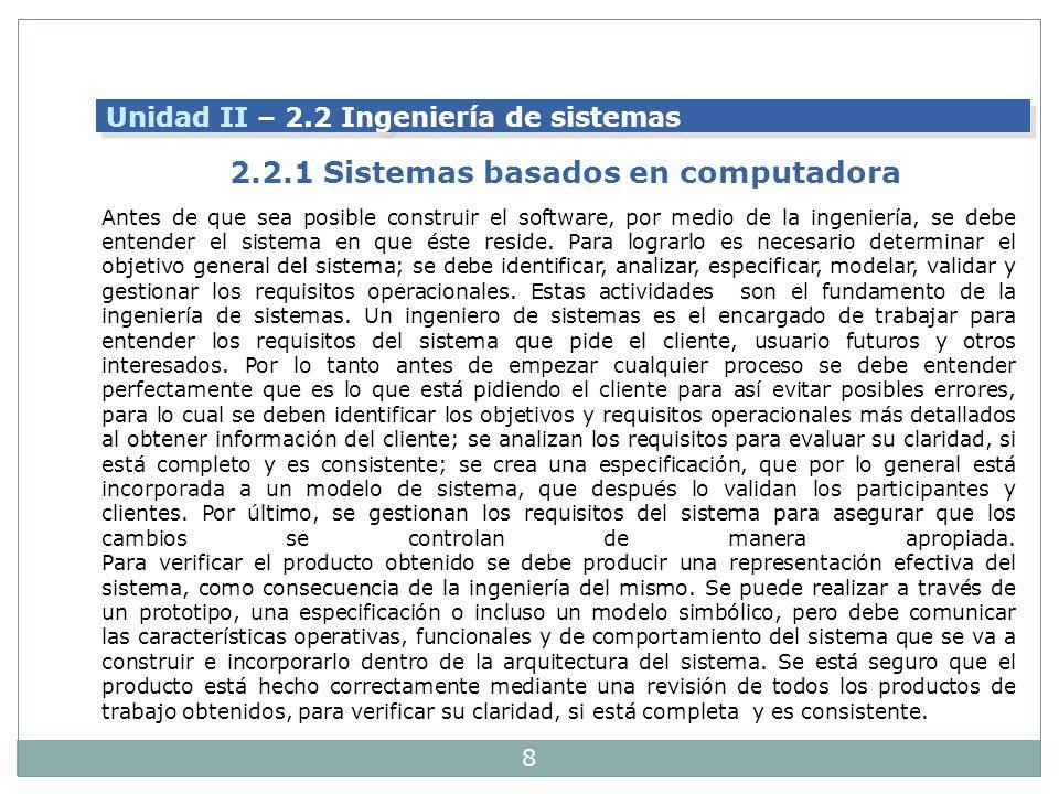 2.2.1 Sistemas basados en computadora