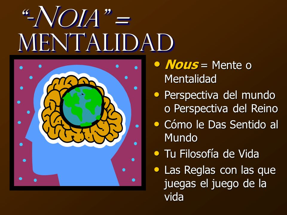 -Noia = Mentalidad Nous = Mente o Mentalidad