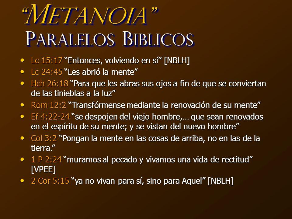 MetaNoia Paralelos Biblicos