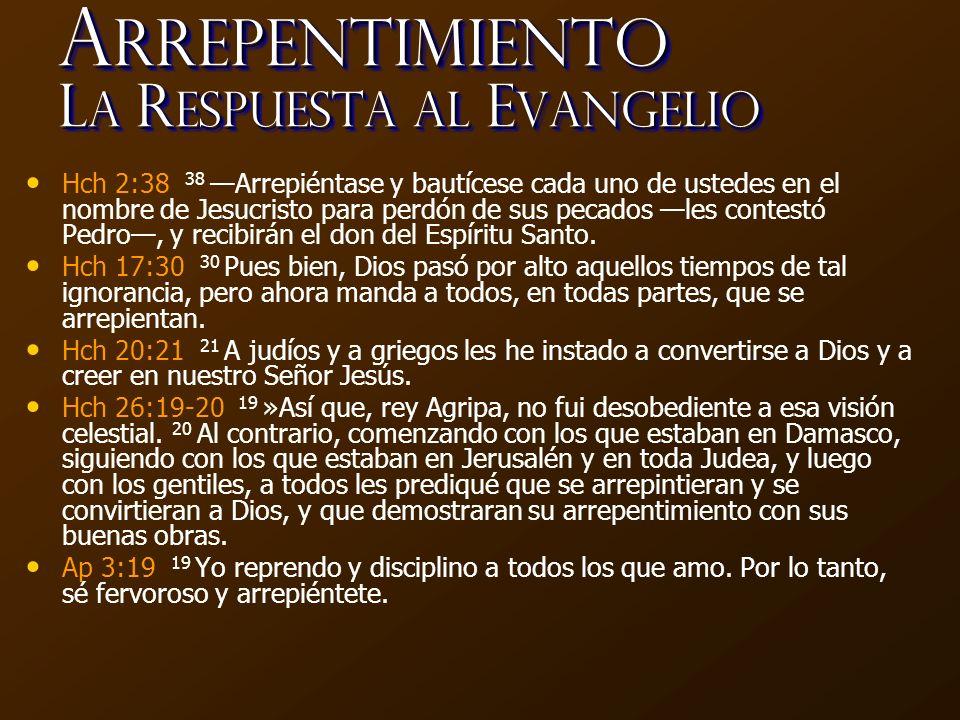 Arrepentimiento La Respuesta al Evangelio