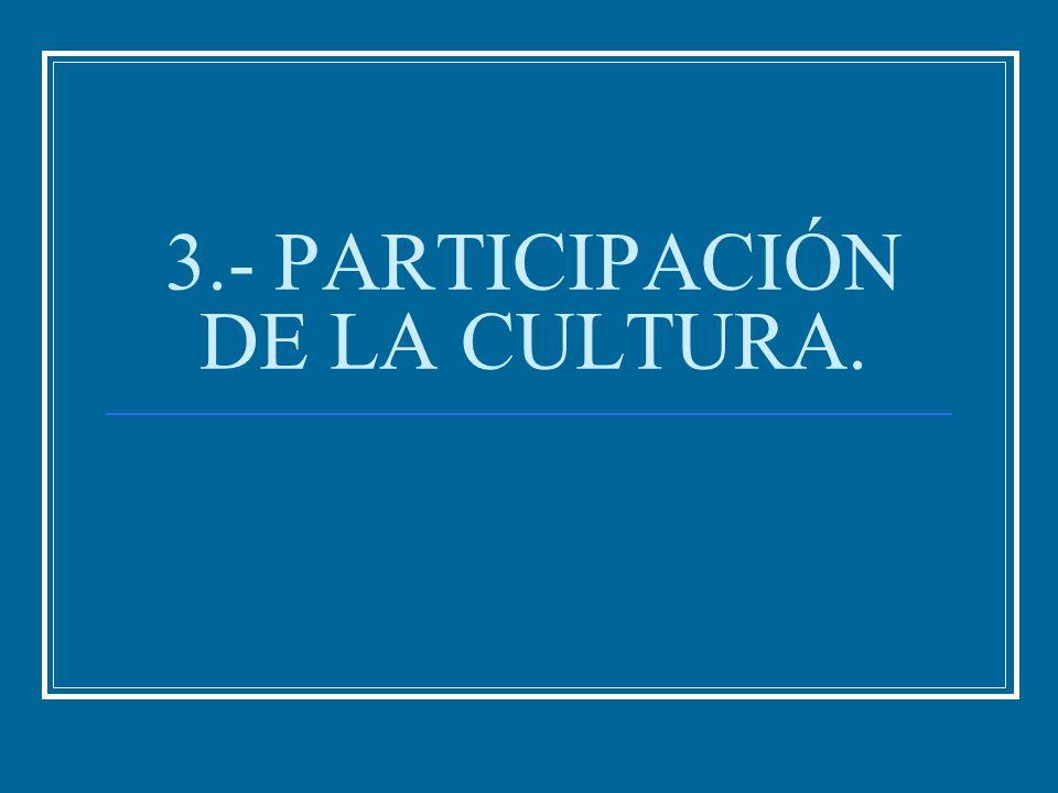 3.- PARTICIPACIÓN DE LA CULTURA.