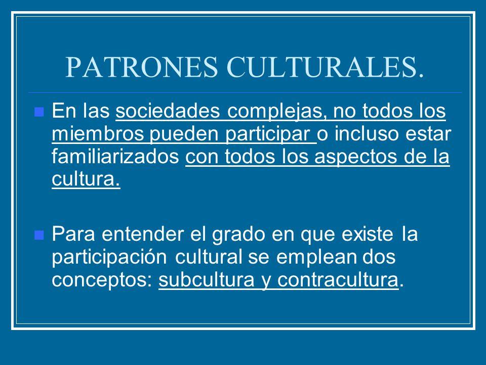 PATRONES CULTURALES.