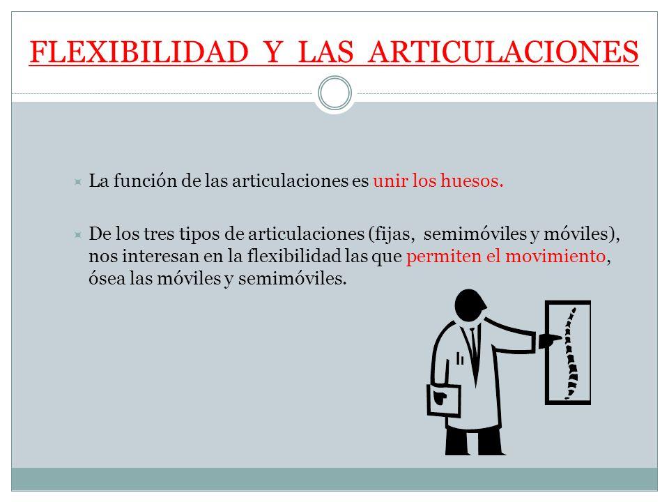 FLEXIBILIDAD Y LAS ARTICULACIONES