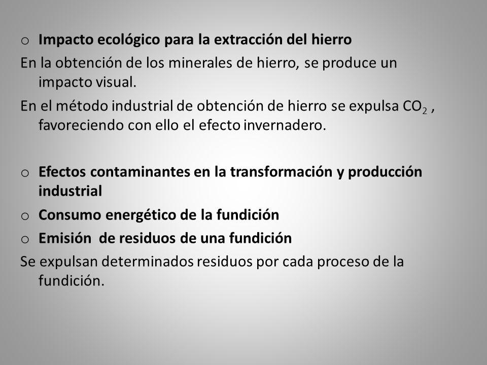 Impacto ecológico para la extracción del hierro
