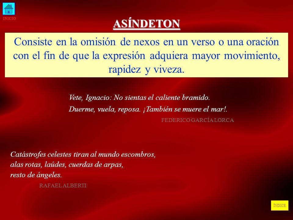INICIO ASÍNDETON.