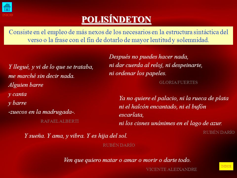 INICIO POLISÍNDETON.