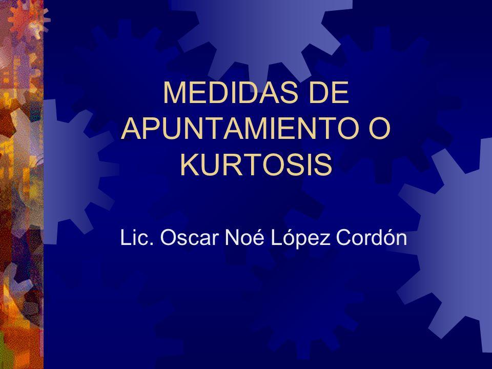 MEDIDAS DE APUNTAMIENTO O KURTOSIS