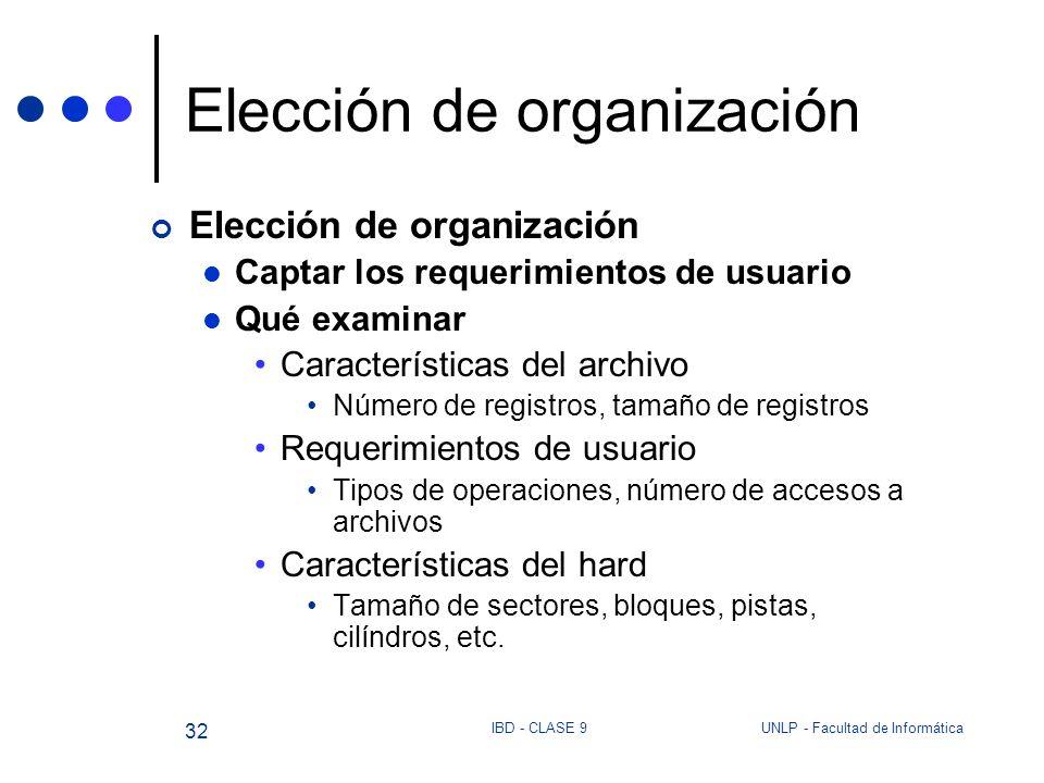 Elección de organización
