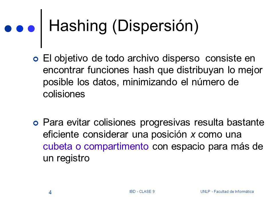 Hashing (Dispersión)