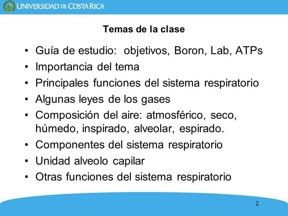 Guía de estudio: objetivos, Boron, Lab, ATPs Importancia del tema