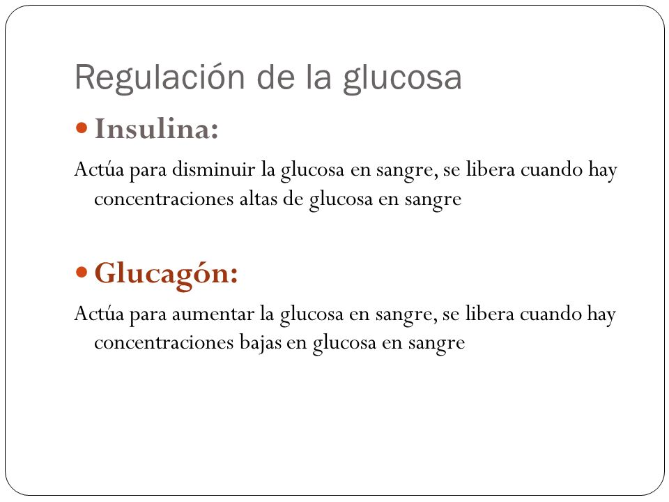Regulación de la glucosa