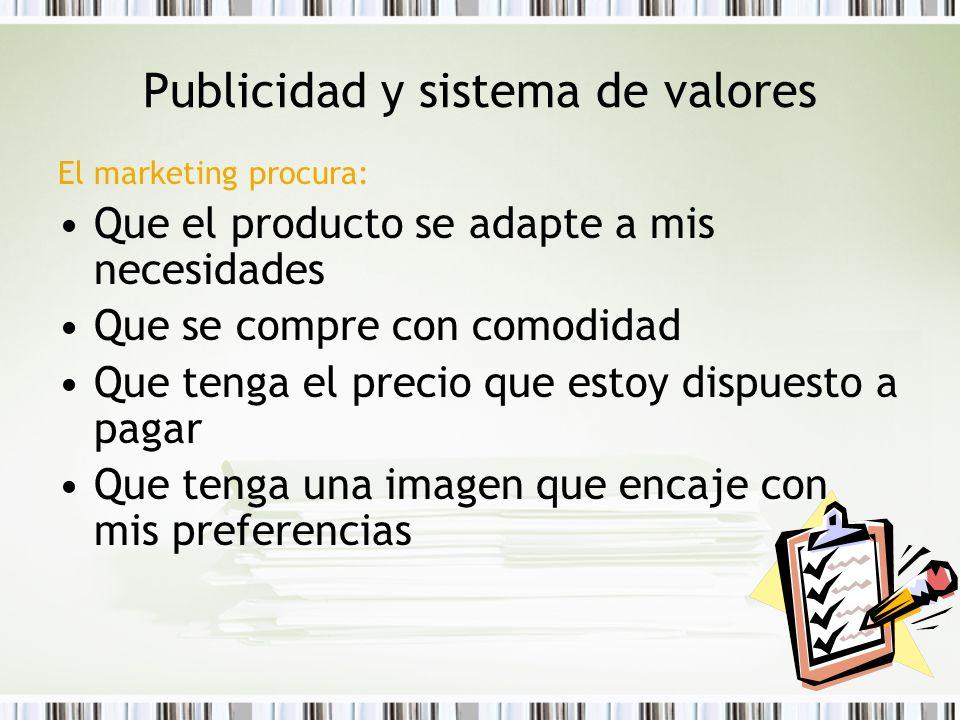 Publicidad y sistema de valores