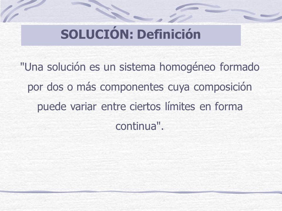 SOLUCIÓN: Definición