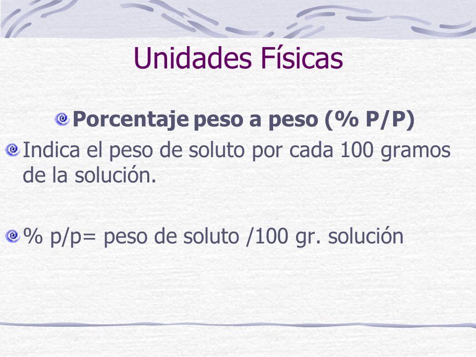 Porcentaje peso a peso (% P/P)