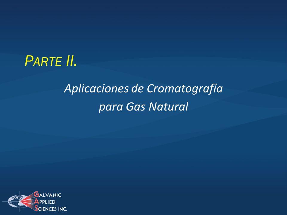 Aplicaciones de Cromatografía para Gas Natural